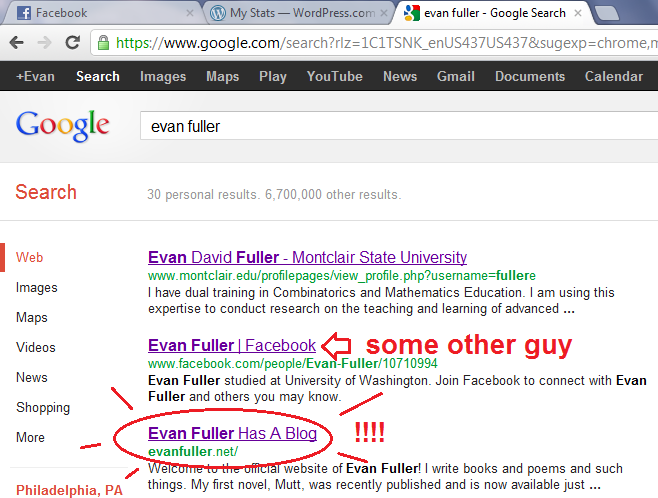 This blog is third place on Google. Yo.